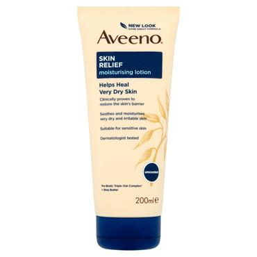 AVEENO SKIN RELIEF UNSCENTED MOISTURISING LOTION 200ML