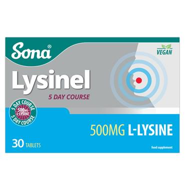 SONA LYSINEL 500MG L-LYSINE TABLETS 30 PACK