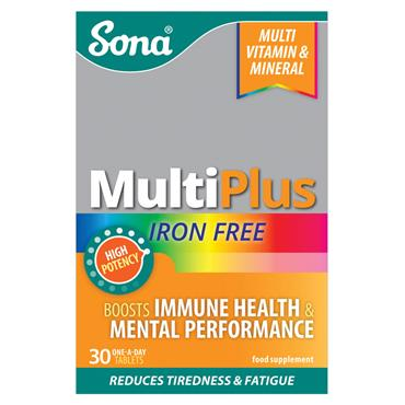 SONA MULTIPLUS IRON FREE TABLETS 30 PACK