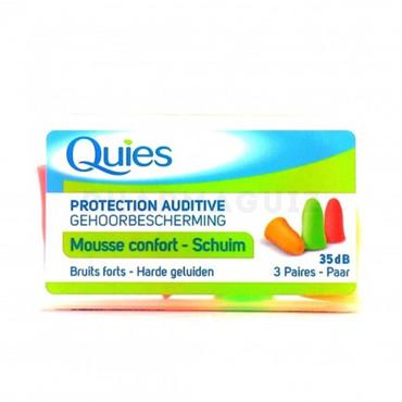 QUIES ANTI NOISE FOAM EARPLULGS 3PAIRS