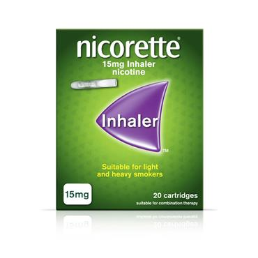 NICORETTE INHALER 15MG 20 CARTRIDGES