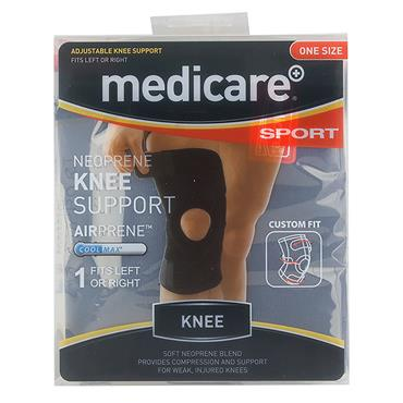 MEDICARE SPORT NEOPRENE KNEE SUPPORT ONE SIZE