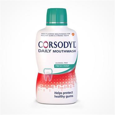 CORSODYL DAILY MOUTHWASH FRESH MINT 500ML
