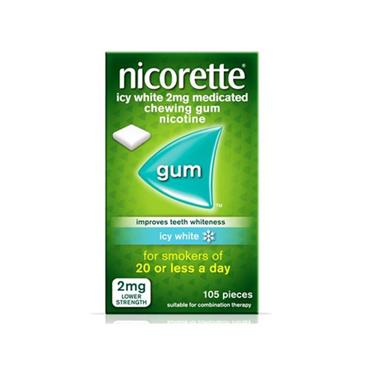 NICORETTE ICY WHITE GUM 2MG (105 PIECES)