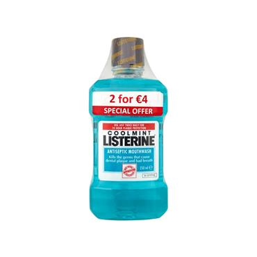 LISTERINE COO LMINT MOUTHWASH TWIN PACK 250 ML X 2