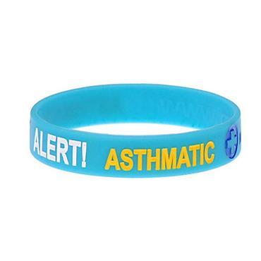 MEDIBAND MEDICAL ID ALERT WRISTBAND ASTHMATIC