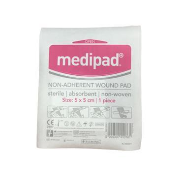MEDIPAD MEDIPAD NON ADHERENT WOUND PAD 5 X 5CM SINGLE