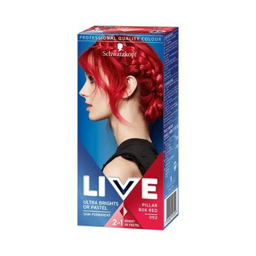 SCHWARZKOPF LIVE ULTRA BRIGHTS SEMI-PERMANENT PILLAR BOX RED 092