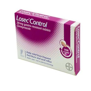 LOSEC CONTROL 20MG GASTRO-RESISTANT TABLETS OMEPRAZOLE 7 PACK