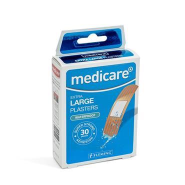MEDICARE EXTRA LARGE PLASTERS WATERPROOF 30PACK