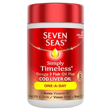 SEVEN SEAS COD LIVER OIL CAPSULES 1 A DAY 60 PACK