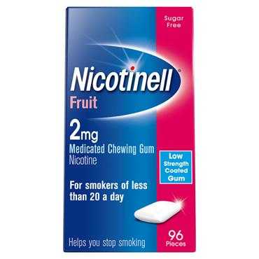 NICOTINELL FRUIT 2MG GUM 96S