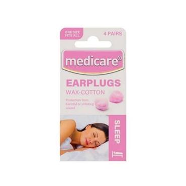 MEDICARE EAR PLUGS WAX COTTON