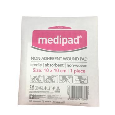 MEDIPAD NON ADHERENT WOUND PAD 10 X 10CM SINGLE