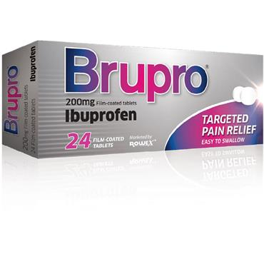BRUPRO IBUPROFEN 200MG TABLET 24 PACK