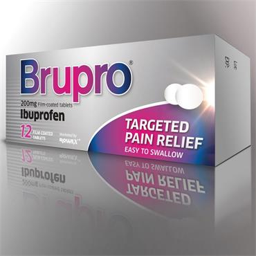 BRUPRO IBUPROFEN 200MG TABLET 12 PACK