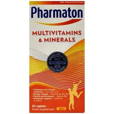 PHARMATON MULTIVITAMIN AND MINERALS 30 CAPLETS