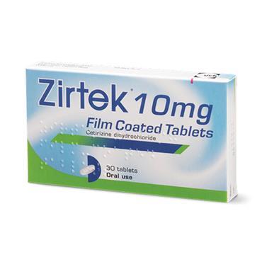 ZIRTEK ALLERGY RELIEF 10MG FILM COATED TABLETS 30 TABELTS