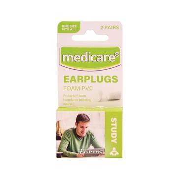 MEDICARE EAR PLUGS FOAM PVC