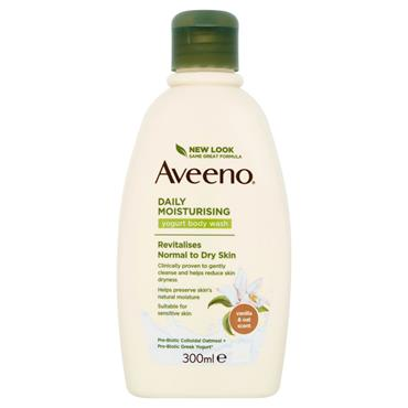 AVEENO DAILY MOISTURISING YOGURT BODY WASH VANILLA & OAT 300ML
