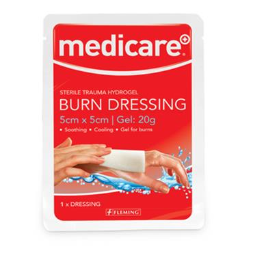 MEDICARE BURN DRESSING 5 X 5CM GEL 20G
