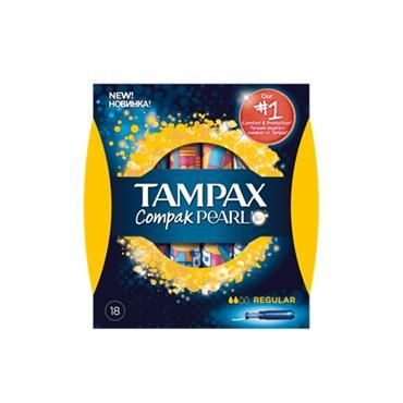TAMPAX COMPAK PEARL REGULAR 18 PACK