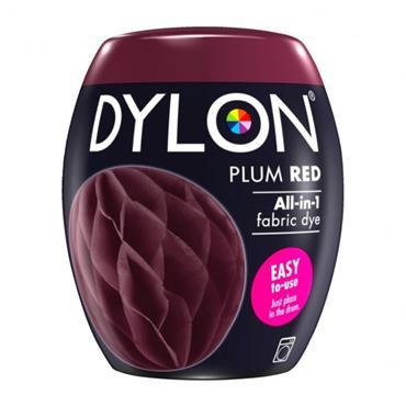 DYLON ALL IN 1 FABRIC DYE POD PLUM RED 350G