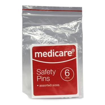 MEDICARE SAFETY PINS SILVER 6PACK