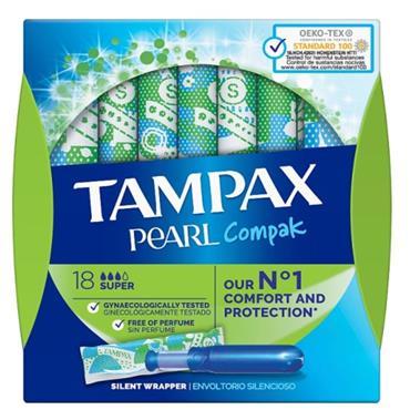 TAMPAX PEARL COMPAK SUPER 18 PACK