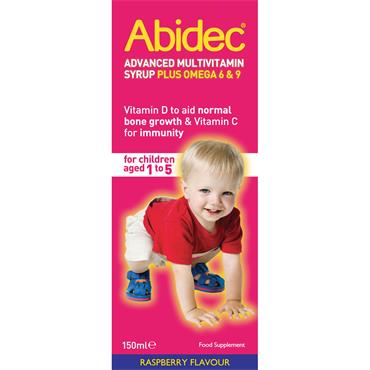 ABIDEC ADVANCED MULTIVITAMIN SYRUP RASPBERRY FLAVOUR 150ML