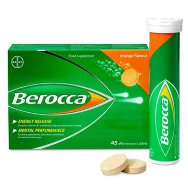 BEROCCA ENERGY ORANGE FLAVOUR EFFERVESCENT 45 TABLETS