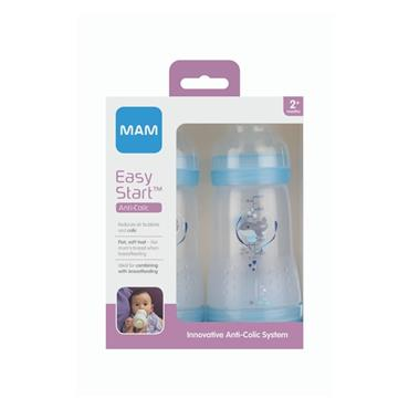 MAM EASY START ANTI COLIC BOTTLE 260ML 2 PACK 2 MOTNHS +