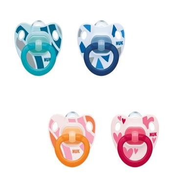 NUK HAPPY DAYS SILICONE SOOTHER 18-36 MONTHS