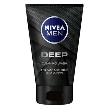 NIVEA FOR MEN DEEP CLEANING WASH BLACK CHARCOAL 100ML