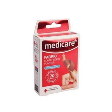 MEDICARE FABRIC LONG FINGER PLASTER 20 PACK