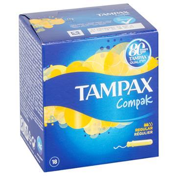 TAMPAX COMPAK REGULAR 18S