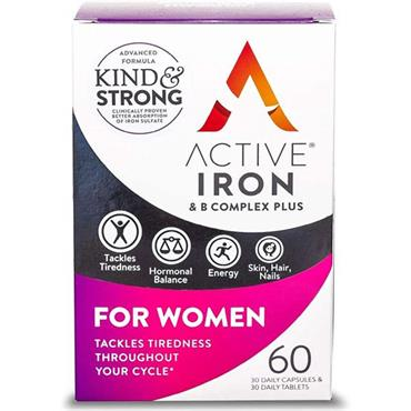 ACTIVE IRON & B COMPLEX PLUS FOR WOMEN 60 CAPSULES