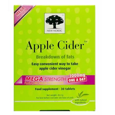 NEW NORDIC APPLE CIDER MEGA STRENGTH 1000MG 90 TABLETS
