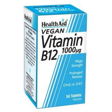 HEALTH AID VEGAN VITAMIN B12 1000UG 50 TABLETS