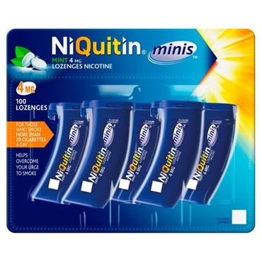 NIQUITIN MINI 4MG MINT LOZENGES 100 PACK
