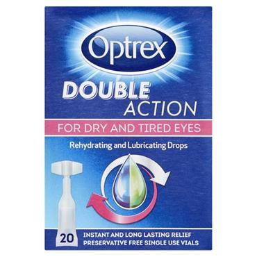 OPTREX DOUBLE ACTION REHYDRATING AND LUBRICATING EYE DROPS (20 PACK)