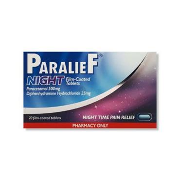 PARALIEF NIGHT 500MG/25MG 20 TABLETS