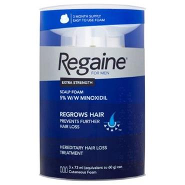 REGAINE FOR MEN EXTRA STRENGTH FOAM 5% MINOXIDIL 3 MONTH SUPPLY 3 X 60G