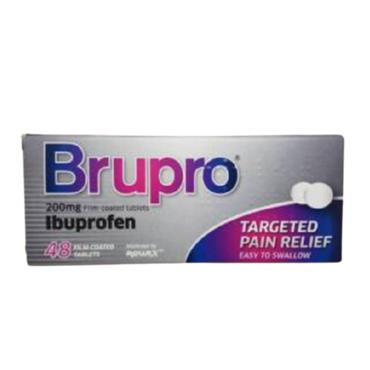 BRUPRO IBUPROFEN 200MG TABLET 48 PACK