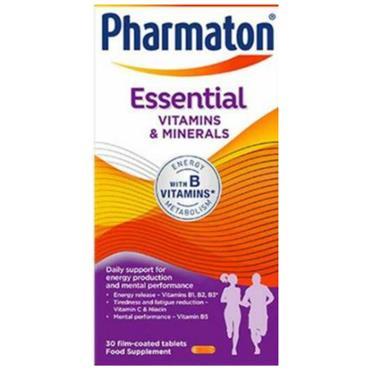 PHARMATON ESSENTIALS VITAMINS AND MINERALS 30 TABLETS