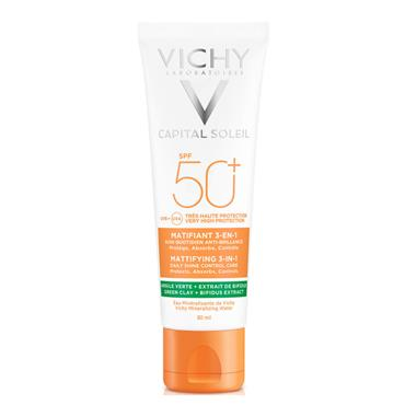 VICHY CAPITAL SOLEIL SPF 50 MATTIFY 3 IN 1 DAILY SHINE CONTROL CARE