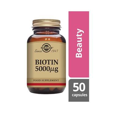 SOLGAR BIOTIN 5000 CAPSULES