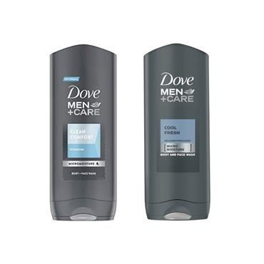 DOVE MEN +CARE COOL FRESH & CLEAN COMFORT SHOWER GEL TWIN PACK