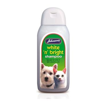 JOHNSONS GROOMING WHITE N BRIGHT DOG & CAT SHAMPOO 200ML
