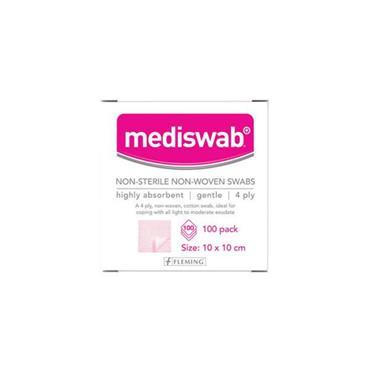 MEDISWAB STERILE NON WOVEN SWABS 10 X 10CM 5 SWABS